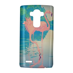 Two Pink Flamingos Pop Art Lg G4 Hardshell Case by WaltCurleeArt