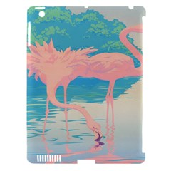 Two Pink Flamingos Pop Art Apple Ipad 3/4 Hardshell Case (compatible With Smart Cover) by WaltCurleeArt