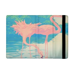 Two Pink Flamingos Pop Art Apple Ipad Mini Flip Case by WaltCurleeArt