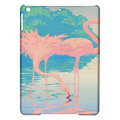 Two Pink Flamingos Pop Art Ipad Air Hardshell Cases by WaltCurleeArt