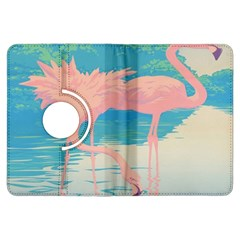 Two Pink Flamingos Pop Art Kindle Fire Hdx Flip 360 Case by WaltCurleeArt