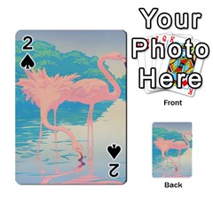 Two Pink Flamingos Pop Art Playing Cards 54 Designs
