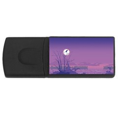 Abstract Tropical Birds Purple Sunset  Usb Flash Drive Rectangular (4 Gb)  by WaltCurleeArt