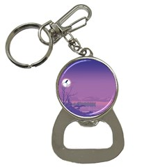 Abstract Tropical Birds Purple Sunset  Bottle Opener Key Chains by WaltCurleeArt