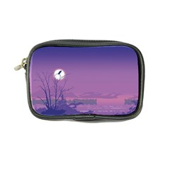 Abstract Tropical Birds Purple Sunset  Coin Purse by WaltCurleeArt