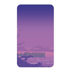 Abstract Tropical Birds Purple Sunset  Memory Card Reader by WaltCurleeArt
