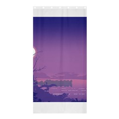Abstract Tropical Birds Purple Sunset  Shower Curtain 36  X 72  (stall)  by WaltCurleeArt