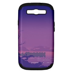Abstract Tropical Birds Purple Sunset  Samsung Galaxy S Iii Hardshell Case (pc+silicone) by WaltCurleeArt