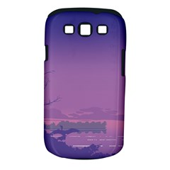 Abstract Tropical Birds Purple Sunset  Samsung Galaxy S Iii Classic Hardshell Case (pc+silicone) by WaltCurleeArt