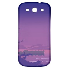 Abstract Tropical Birds Purple Sunset  Samsung Galaxy S3 S Iii Classic Hardshell Back Case by WaltCurleeArt