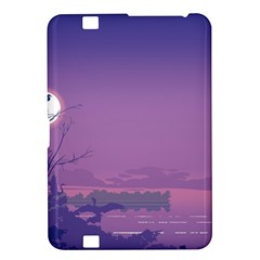 Abstract Tropical Birds Purple Sunset  Kindle Fire Hd 8 9  by WaltCurleeArt