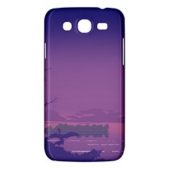 Abstract Tropical Birds Purple Sunset  Samsung Galaxy Mega 5 8 I9152 Hardshell Case  by WaltCurleeArt