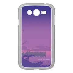 Abstract Tropical Birds Purple Sunset  Samsung Galaxy Grand Duos I9082 Case (white) by WaltCurleeArt