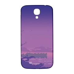Abstract Tropical Birds Purple Sunset  Samsung Galaxy S4 I9500/i9505  Hardshell Back Case by WaltCurleeArt