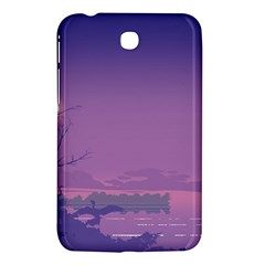 Abstract Tropical Birds Purple Sunset  Samsung Galaxy Tab 3 (7 ) P3200 Hardshell Case  by WaltCurleeArt