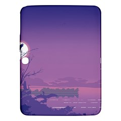 Abstract Tropical Birds Purple Sunset  Samsung Galaxy Tab 3 (10 1 ) P5200 Hardshell Case  by WaltCurleeArt