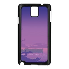 Abstract Tropical Birds Purple Sunset  Samsung Galaxy Note 3 N9005 Case (black) by WaltCurleeArt
