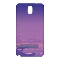 Abstract Tropical Birds Purple Sunset  Samsung Galaxy Note 3 N9005 Hardshell Back Case by WaltCurleeArt
