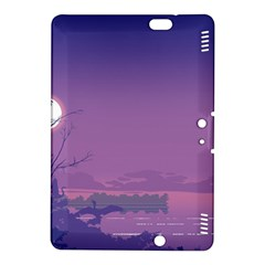 Abstract Tropical Birds Purple Sunset  Kindle Fire Hdx 8 9  Hardshell Case by WaltCurleeArt