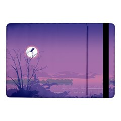Abstract Tropical Birds Purple Sunset  Samsung Galaxy Tab Pro 10 1  Flip Case by WaltCurleeArt