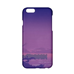 Abstract Tropical Birds Purple Sunset  Apple Iphone 6/6s Hardshell Case by WaltCurleeArt