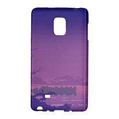 Abstract Tropical Birds Purple Sunset  Galaxy Note Edge by WaltCurleeArt