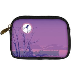 Abstract Tropical Birds Purple Sunset Digital Camera Cases by WaltCurleeArt