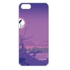 Abstract Tropical Birds Purple Sunset Apple Iphone 5 Seamless Case (white) by WaltCurleeArt
