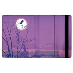 Abstract Tropical Birds Purple Sunset Apple Ipad 3/4 Flip Case by WaltCurleeArt
