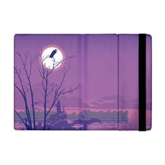 Abstract Tropical Birds Purple Sunset Apple Ipad Mini Flip Case by WaltCurleeArt