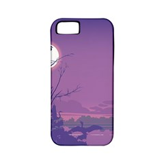 Abstract Tropical Birds Purple Sunset Apple Iphone 5 Classic Hardshell Case (pc+silicone) by WaltCurleeArt
