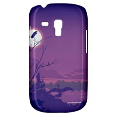 Abstract Tropical Birds Purple Sunset Samsung Galaxy S3 Mini I8190 Hardshell Case by WaltCurleeArt