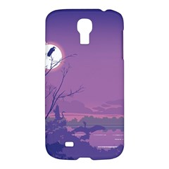 Abstract Tropical Birds Purple Sunset Samsung Galaxy S4 I9500/i9505 Hardshell Case by WaltCurleeArt
