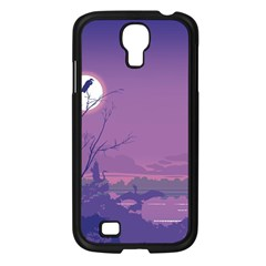 Abstract Tropical Birds Purple Sunset Samsung Galaxy S4 I9500/ I9505 Case (black) by WaltCurleeArt