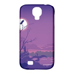 Abstract Tropical Birds Purple Sunset Samsung Galaxy S4 Classic Hardshell Case (pc+silicone) by WaltCurleeArt