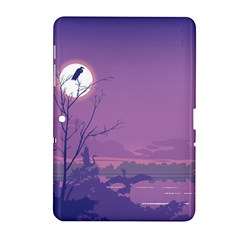 Abstract Tropical Birds Purple Sunset Samsung Galaxy Tab 2 (10 1 ) P5100 Hardshell Case  by WaltCurleeArt