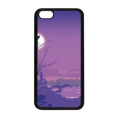 Abstract Tropical Birds Purple Sunset Apple Iphone 5c Seamless Case (black) by WaltCurleeArt