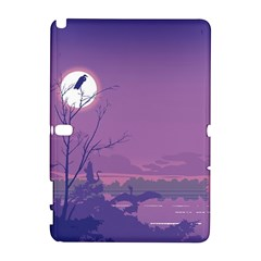 Abstract Tropical Birds Purple Sunset Samsung Galaxy Note 10 1 (p600) Hardshell Case by WaltCurleeArt