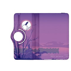Abstract Tropical Birds Purple Sunset Kindle Fire Hdx 8 9  Flip 360 Case by WaltCurleeArt