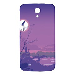Abstract Tropical Birds Purple Sunset Samsung Galaxy Mega I9200 Hardshell Back Case by WaltCurleeArt