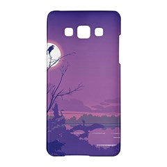 Abstract Tropical Birds Purple Sunset Samsung Galaxy A5 Hardshell Case  by WaltCurleeArt