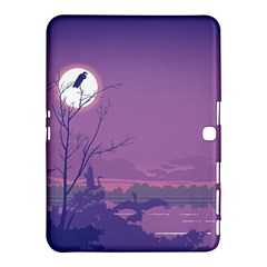 Abstract Tropical Birds Purple Sunset Samsung Galaxy Tab 4 (10 1 ) Hardshell Case  by WaltCurleeArt