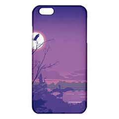 Abstract Tropical Birds Purple Sunset Iphone 6 Plus/6s Plus Tpu Case by WaltCurleeArt