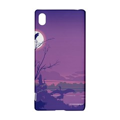 Abstract Tropical Birds Purple Sunset Sony Xperia Z3+ by WaltCurleeArt