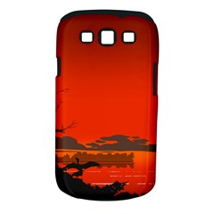 Tropical Birds Orange Sunset Landscape Samsung Galaxy S Iii Classic Hardshell Case (pc+silicone) by WaltCurleeArt