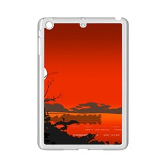 Tropical Birds Orange Sunset Landscape Ipad Mini 2 Enamel Coated Cases by WaltCurleeArt