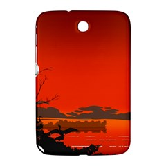 Tropical Birds Orange Sunset Landscape Samsung Galaxy Note 8 0 N5100 Hardshell Case  by WaltCurleeArt