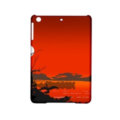 Tropical Birds Orange Sunset Landscape Ipad Mini 2 Hardshell Cases by WaltCurleeArt
