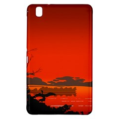 Tropical Birds Orange Sunset Landscape Samsung Galaxy Tab Pro 8 4 Hardshell Case by WaltCurleeArt