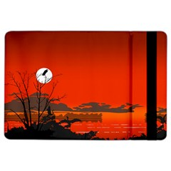 Tropical Birds Orange Sunset Landscape Ipad Air 2 Flip by WaltCurleeArt